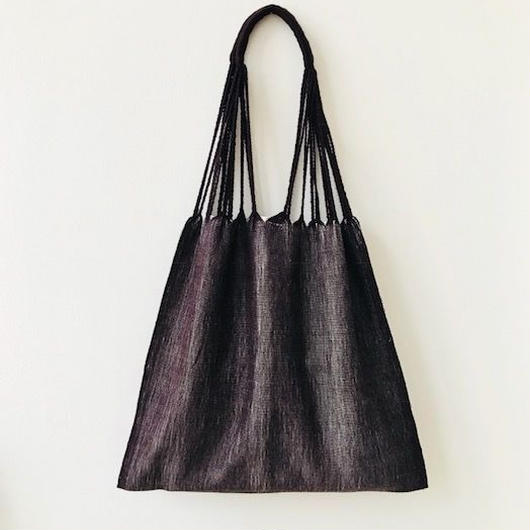 pips / cotton hand woven  hammock bag/ brown x natural  / ピップス / コットン ハンモックバッグ