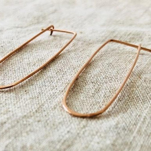 cinq / Frame  earring / 14k  rose gold filled / シンク / ローズ ゴールド