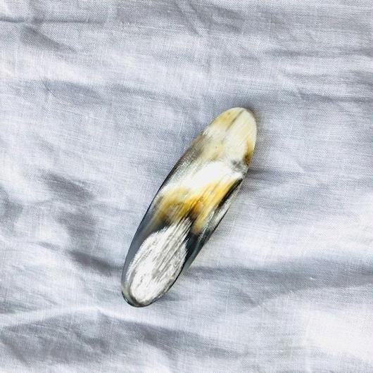 kostkamm / horn hair clip 8cm / コストカム / 水牛角ヘアーバレッタ/8cm
