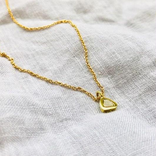 ishi jewelry / diamond slice necklace / イシジュエリー / ダイヤモンド スライスネックレス