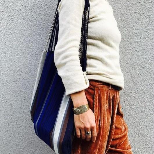 pips / cotton hand woven hammock bag  / ピップス / コットン ハンモックバッグ