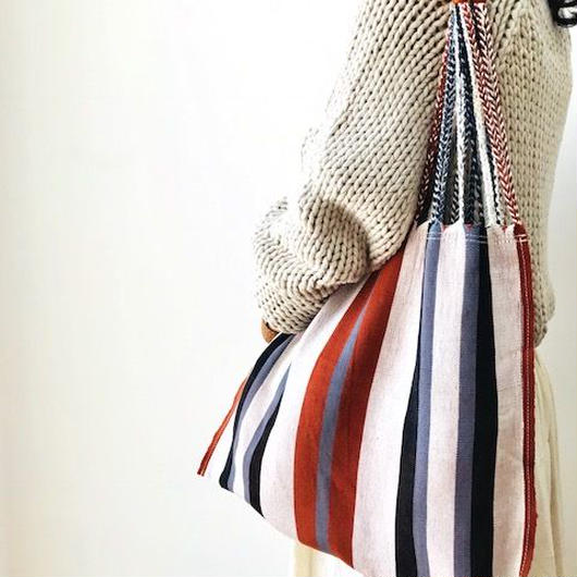 pips / cotton hand woven  hammock bag/ brown  / ピップス / コットン ハンモックバッグ