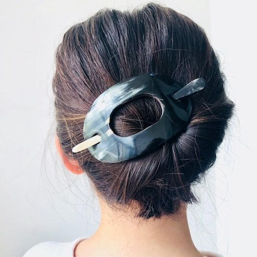 kostkamm / horn hair clip with stick 12cm / コストカム / 水牛角ヘアークリップ/ 12cm