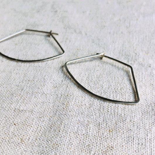 cinq / Vector earring / silver  / シンク / シルバーピアス