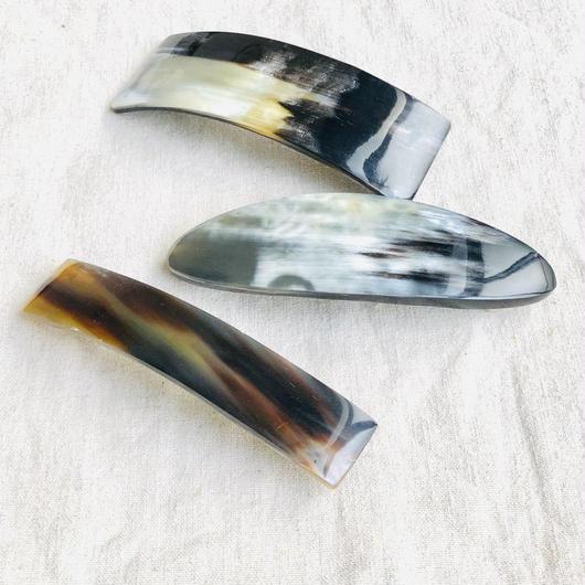 kostkamm /horn  hair baretta /10cm / コストカム/ 水牛角バレッタ/10cm