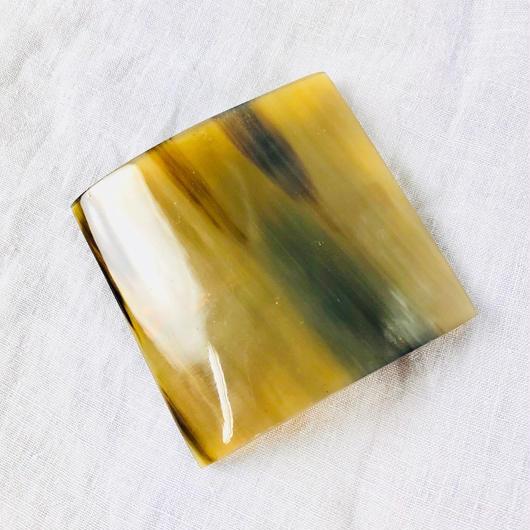 kostkamm / horn hair clip square 6cm / コストカム / 水牛角ヘアーバレッタ/ 四角 6cm