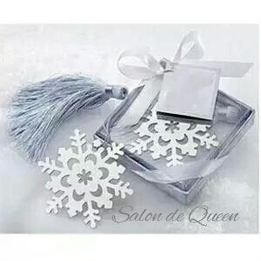 雪の結晶 シルクタッセル付 ブックマーク