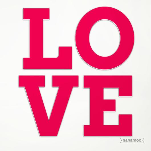 LOVE<4文字セット>オブジェ(Mサイズ):8色からご選択が可能です