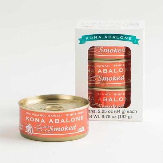"KONA ABALONE ""Naturally Smoked"" Brown Can ""ナチュラリー・スモークド"" ブラウン缶  3缶セット"