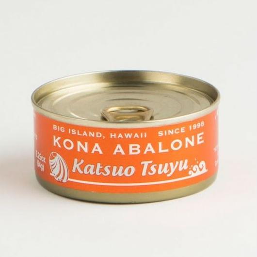 "KONA ABALONE ""Katsuo Tsuyu"" Orange Can ""かつおつゆ"" オレンジ缶"