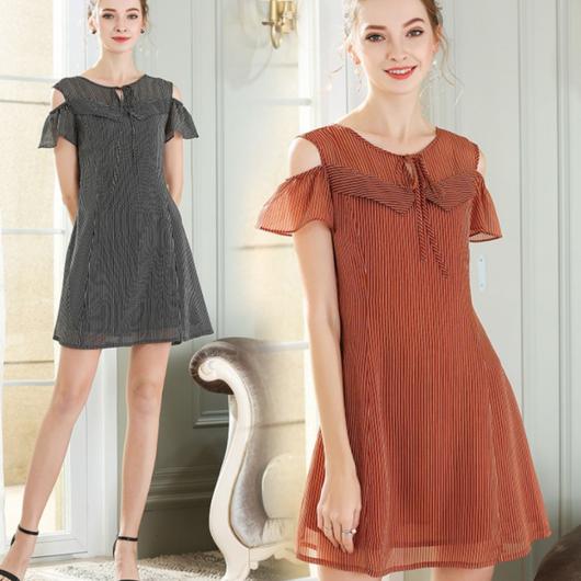 ストライプ柄 ドレス ワンピース