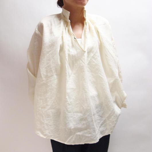 リネン コールドマーセ ギャザーシャツ <16111-BL / NATURAL>