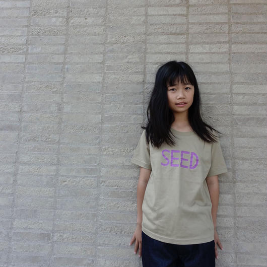 [KID'S SIZE ONLY]  SANDBEIGE/PURPLE 15years anniversary T-shirts <予約販売>