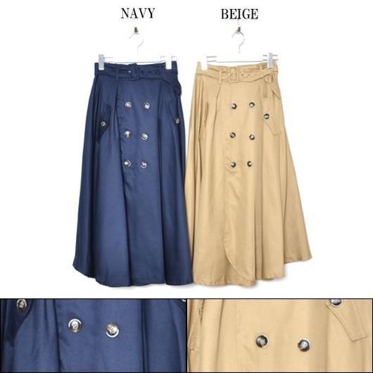 キャンセル分★ベルト付きトレンチロングスカート