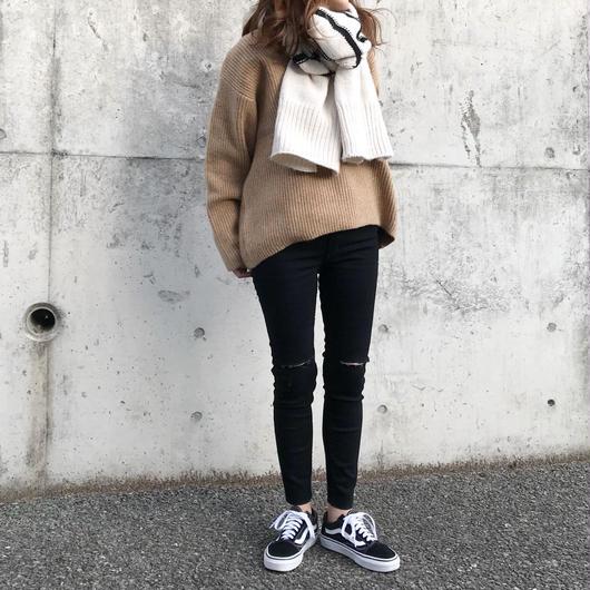 straight  skinny denim[black ]