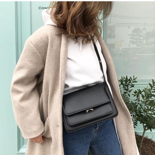【即納】leather box bag