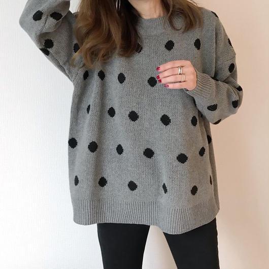dots knit tops
