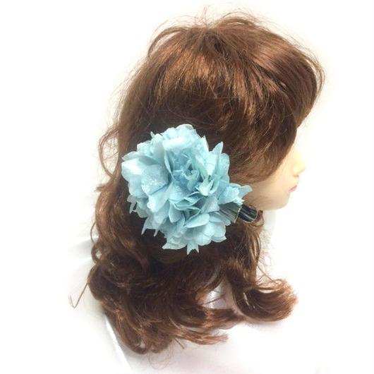 【プリザーブドフラワー/ヘアアクセサリーシリーズ/本当の紫陽花の髪飾り】静かな想いは心に秘めて。明るい空のような透明感ある髪飾りミニサイズ【 ラッピング付き】