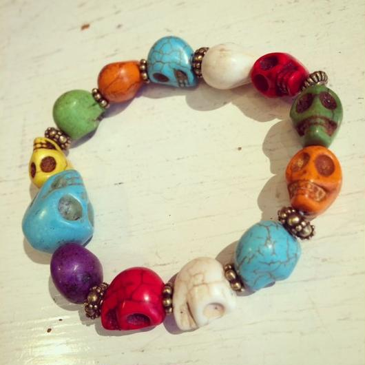 Alan Smithee / Colorful Skull Bracelet