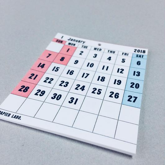 PAPIER LABO 2018 Desktop Calendar
