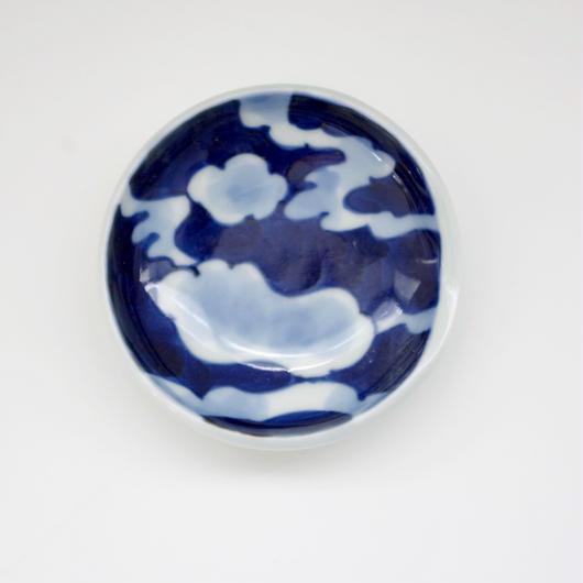 有田焼の豆皿 藍雲