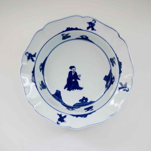 有田焼の唐子なます皿