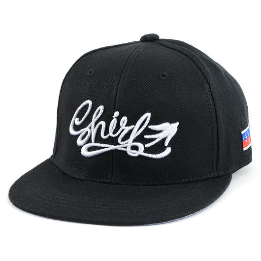 FREE FLY 3D SNAPBACK 6PANEL CAP (BLACK)(SH160206BLK)