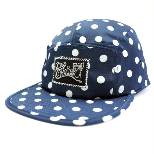 SATIN DOT COMFORT-5 CAP (NAVY) made in japan (SH170105DOT)