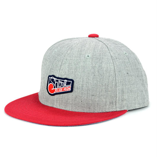 SQUARE PATCH SNAPBACK 6PANEL CAP (MIX-G/RED)(SH150203GRD)