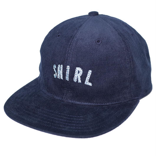 ARCH LOGO SPRING CORDUROY STRAPBACK 6PANEL CAP (NAVY) made in japan (SH170708NVY)