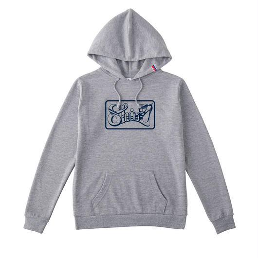 SHIRL BOX  LOGO HOODED パーカー  ( HEATHER GREY)(SH161301GRY)