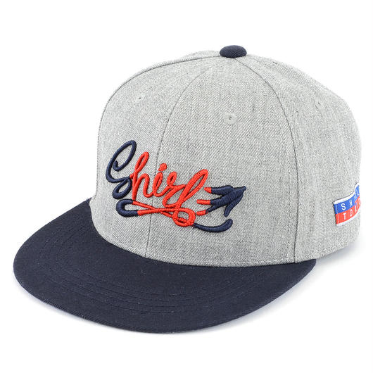 FREE FLY 3D SNAPBACK 6PANEL CAP (MIX GREY X NV / 2TONE EMB)(SH160206GNR)