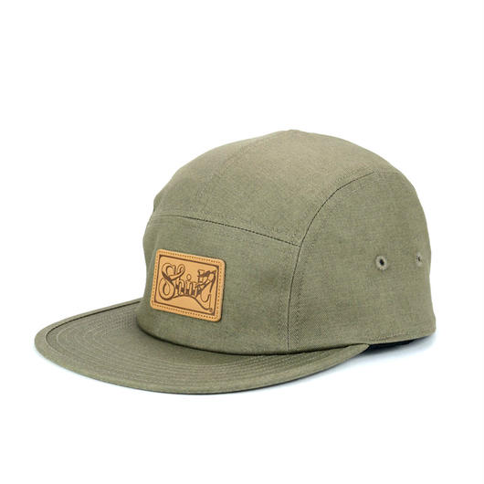 LEATHER PATCH COMFORT-5 CAP (KHAKI DENIM) made in japan(SH150102KHD)