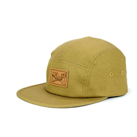 LEATHER PATCH COMFORT-5 CAP (BEIGE DENIM) made in japan(SH150102BGD)