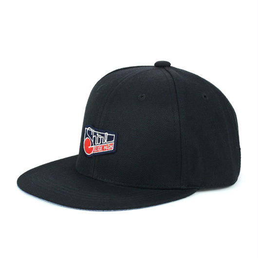 SQUARE PATCH SNAPBACK 6PANEL CAP (BLACK)(SH150203BLK)