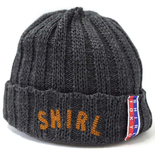 ARCH LOGO OUTLAST BEANIE  (MIX CHARCOAL) Made in Japan (SH160508CHA)