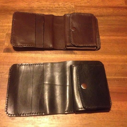 手縫い二つ折り財布(コインケース付き)