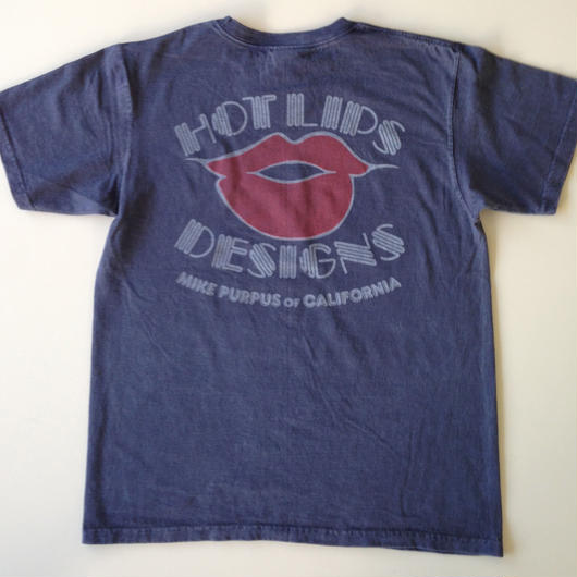 HOT LIPS DESIGNS TEE ネイビー