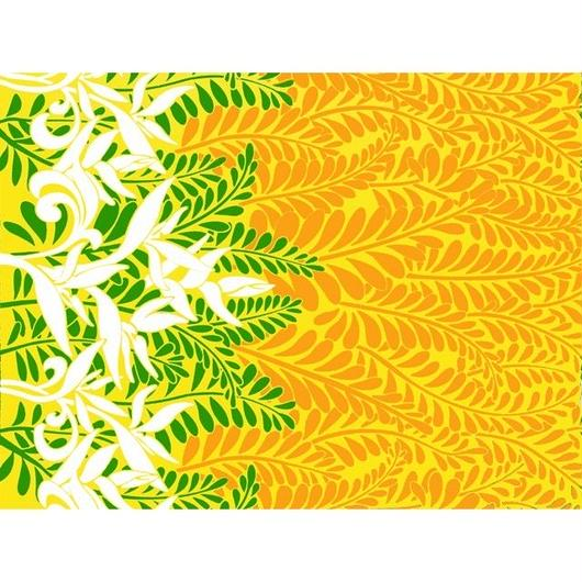 ハワイアンファブリック / 生地・布 A0378