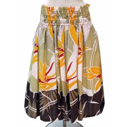 パウスカート フラダンス衣装 70cm/75cm丈 白 PAUB0308