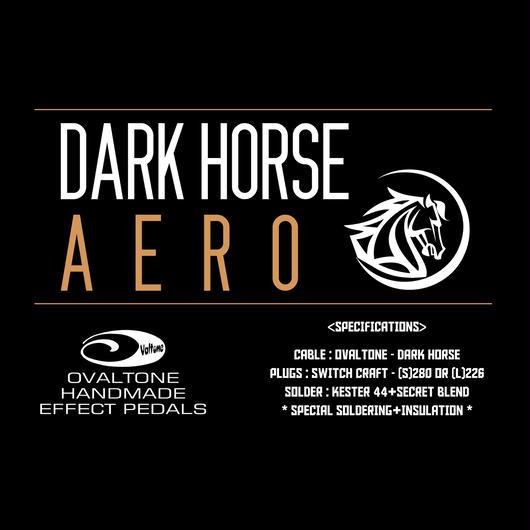 DARK HORSE / シールドケーブル 完成品 // AERO 3m S-S / 接合部、絶縁材を工夫し音質チューニングを施しました