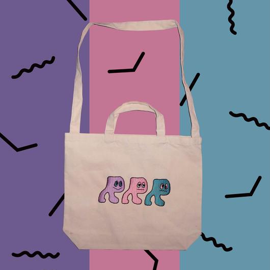 RRRちゃん刺繍BAG (white)