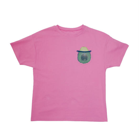 AVOCADO MESH POCKET BIG TEE (pink)