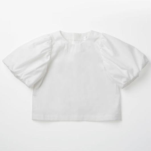 Noble/White パフスリーブシャツ