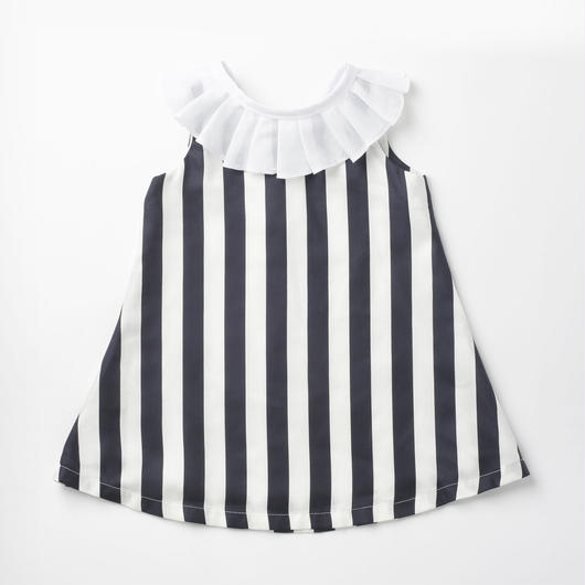 Summer pierrot/navy stripe