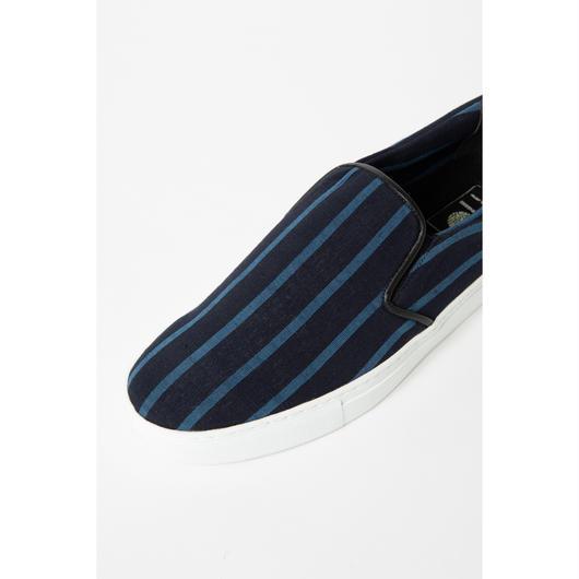 38 CMS / AC02 : 会津木綿 大名縞sneakers