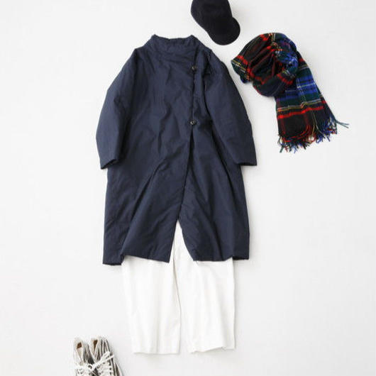 CHAW18-3818NK  COTTON DYED BROAD CLOTH PANEL & FLEARE COAT MID