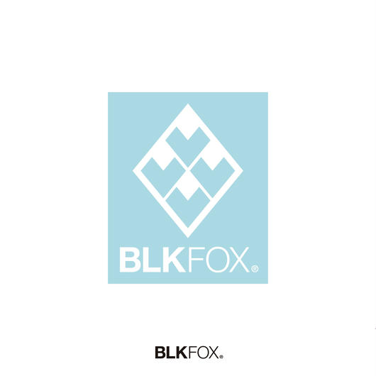 BLKFOX CUTTING STICKER 01/WHITE