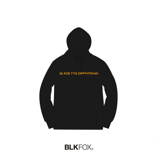 【受注販売】BLKFOX HOODIES 01 / BLACK x ORANGE