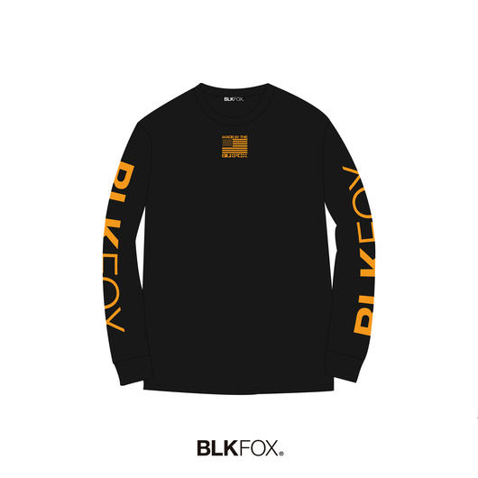 【受注販売】BLKFOX LONG T-SHIRT 01 / BLACK × ORANGE